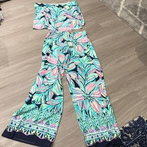 Lilly Pulitzer Two piece jumpsuit set